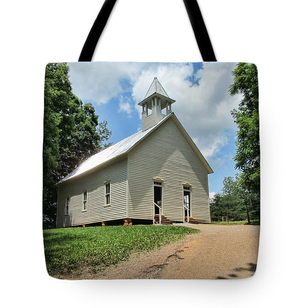 Church In Cade's Cove Tote Bag by Victor Montgomery