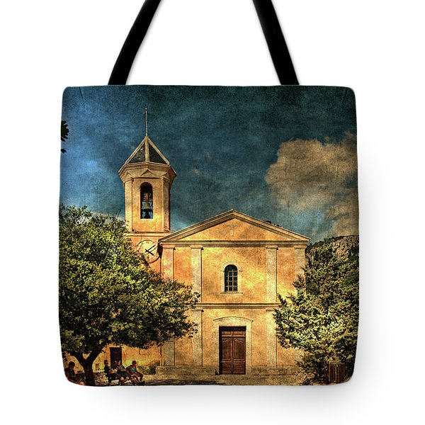 Church In Peillon Tote Bag