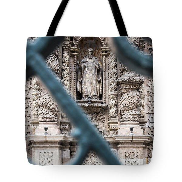 Church In Peru Tote Bag