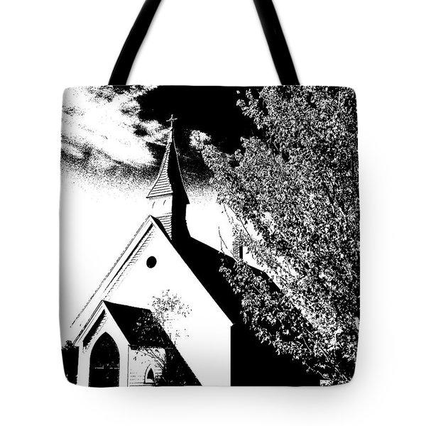 Church In Shadows Tote Bag