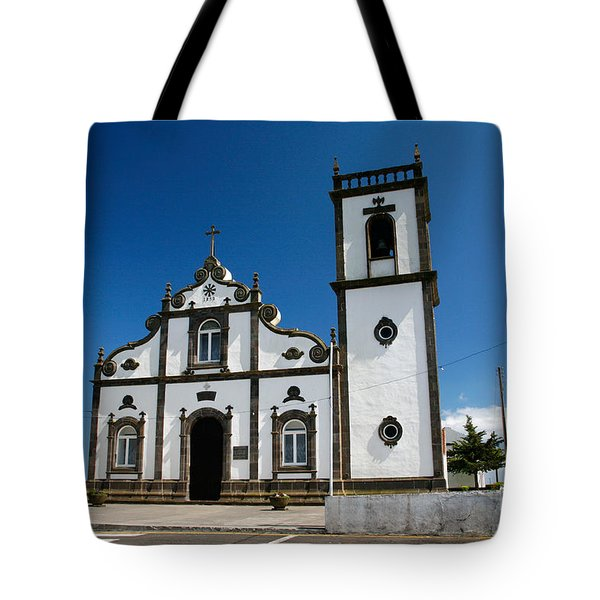 Church In The Azores Tote Bag by Gaspar Avila