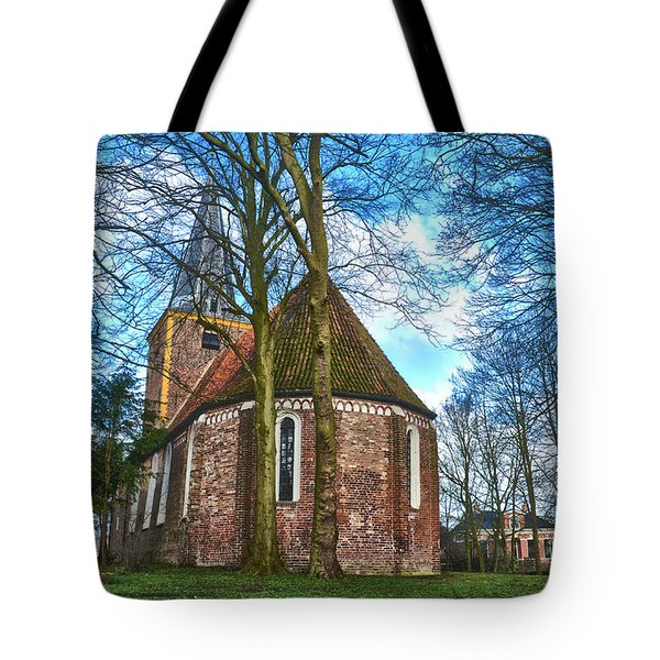 Tote Bag featuring the photograph Church In Winsum by Frans Blok