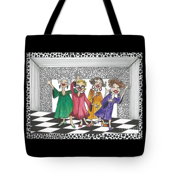 Church Ladies Tote Bag by Nan Wright