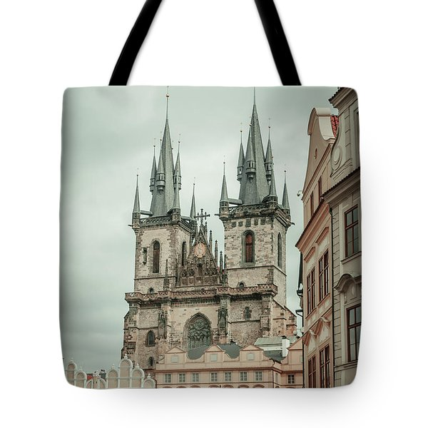 Tote Bag featuring the photograph Church Of Our Lady Before Tyn by Jenny Rainbow