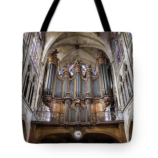 Church Of Saint-severin Organ - #1 Tote Bag