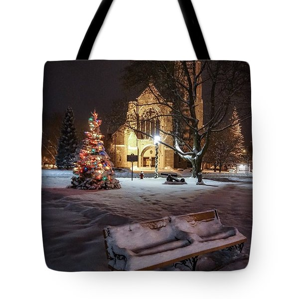 Church Of St Mary St Paul At Christmas Tote Bag