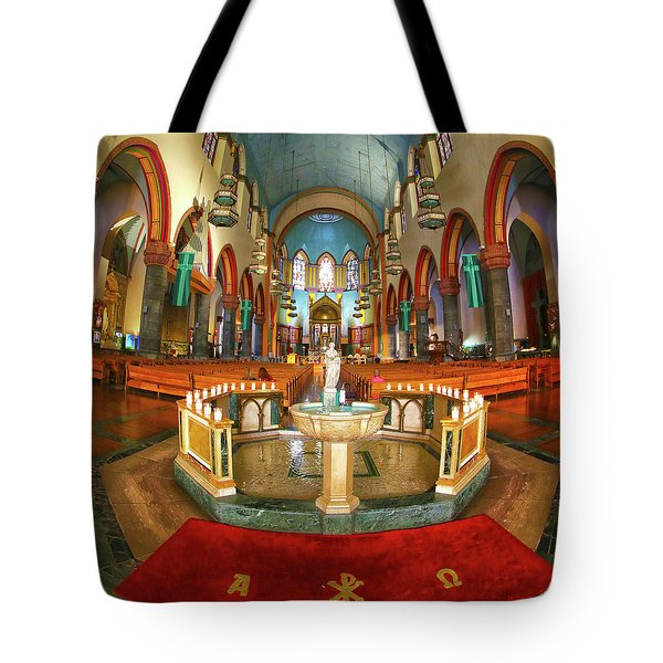 Tote Bag featuring the photograph Church Of St. Paul The Apostle by Mitch Cat