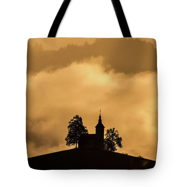Tote Bag featuring the photograph Church Of St. Thomas #2 - Slovenia by Stuart Litoff