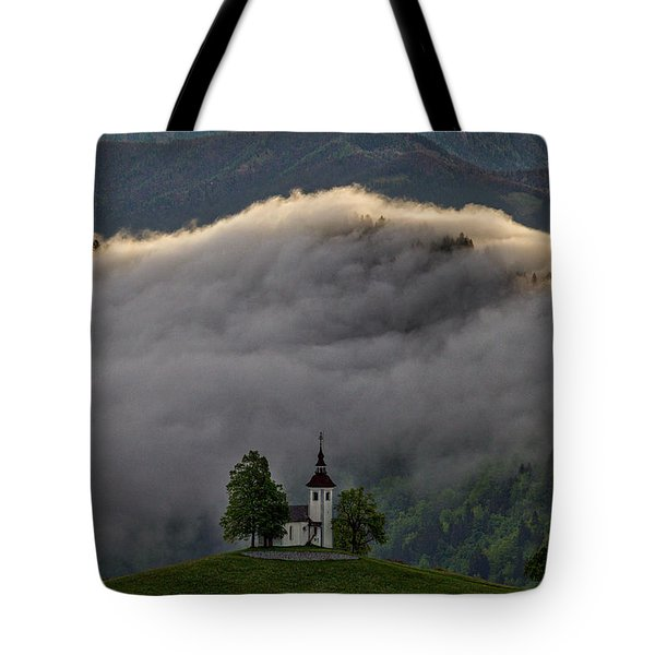 Tote Bag featuring the photograph Church Of St. Thomas - Slovenia by Stuart Litoff