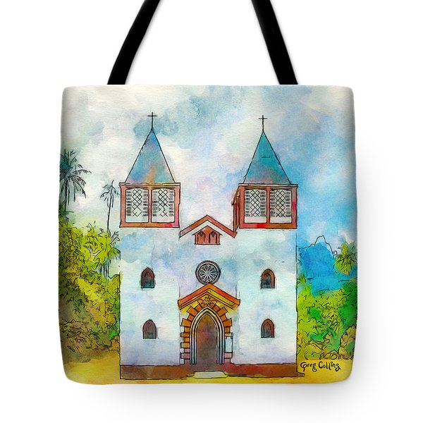 Church Of The Holy Family Tote Bag by Greg Collins