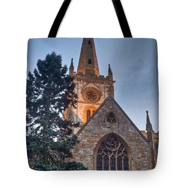 Church Of The Holy Trinity Stratford Upon Avon 4 Tote Bag by Douglas Barnett