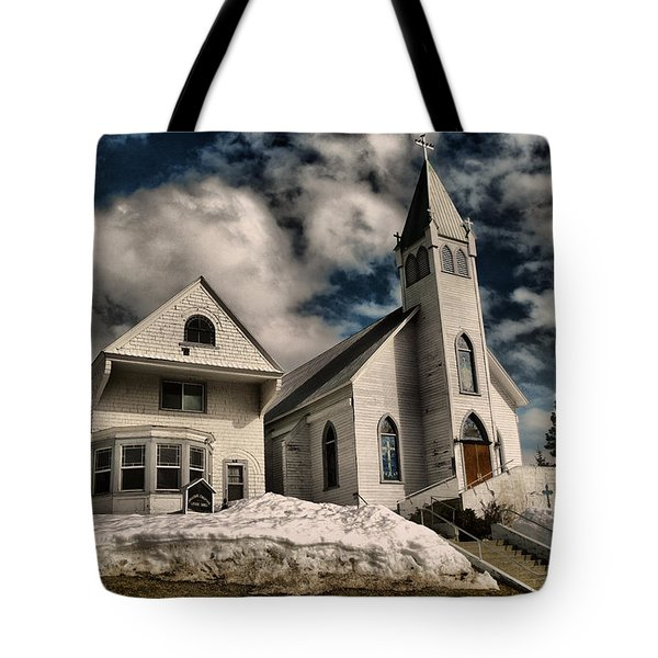 Tote Bag featuring the photograph Church Of The Immaculate Conception Roslyn Wa by Jeff Swan