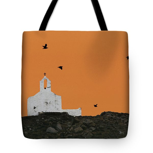 Church On A Hill Tote Bag