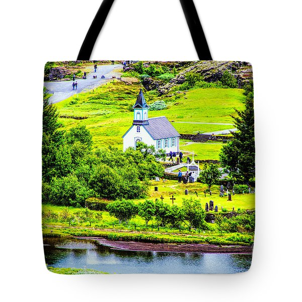 Church On The Green Tote Bag
