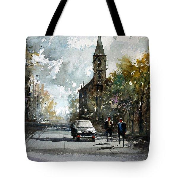 Church On The Hill Tote Bag by Ryan Radke