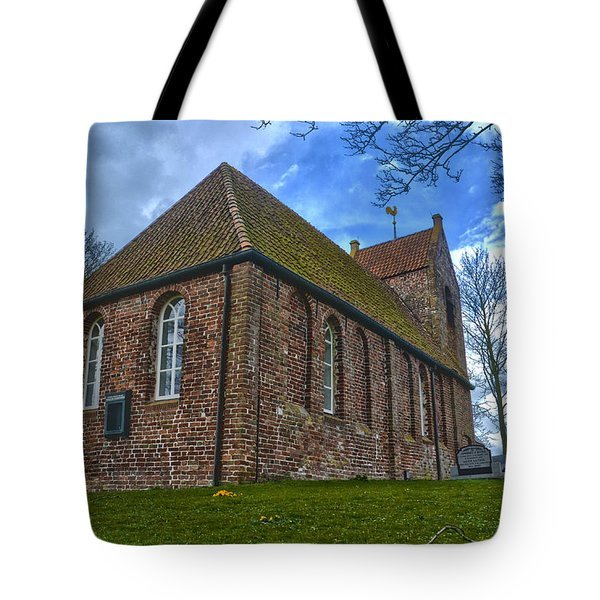 Church On The Mound Of Oostum Tote Bag