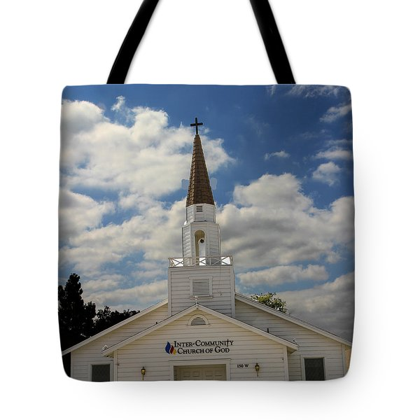 Tote Bag featuring the photograph Church by Robert Hebert