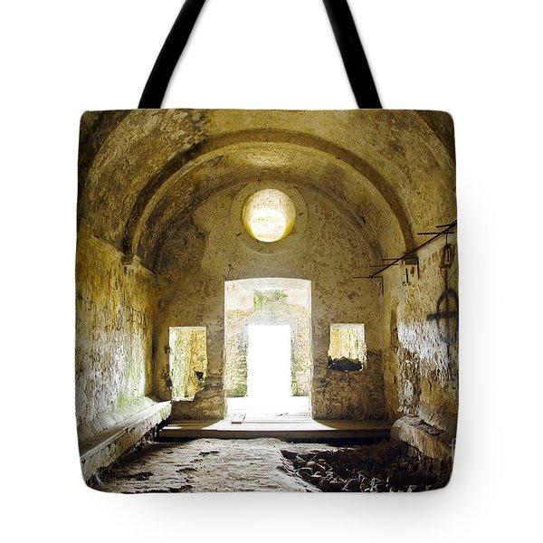 Church Ruin Tote Bag