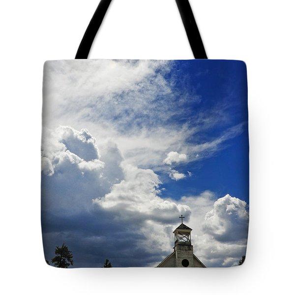 Church Tote Bag by Skip Hunt