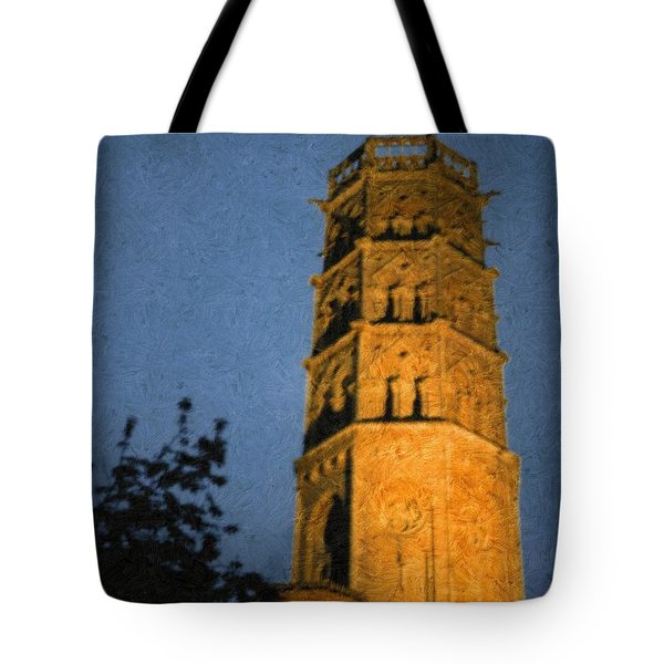 Tote Bag featuring the photograph Church Steeple by Jean Bernard Roussilhe