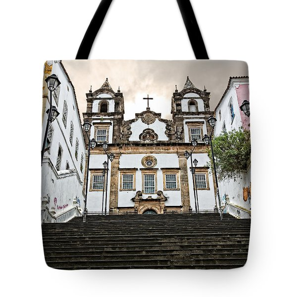 Tote Bag featuring the photograph Church Steps by Kim Wilson