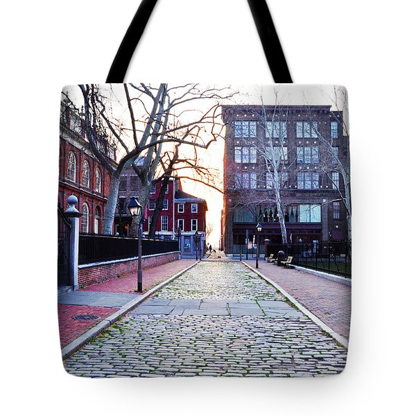 Church Street Cobblestones - Philadelphia Tote Bag by Bill Cannon