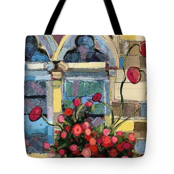 Church Window Tote Bag by Carrie Joy Byrnes