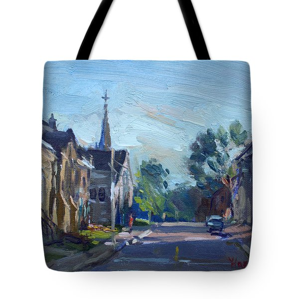 Churche In Downtown Georgetown On Tote Bag