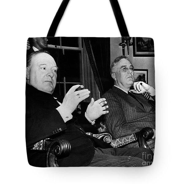Churchill & Roosevelt Tote Bag by Granger