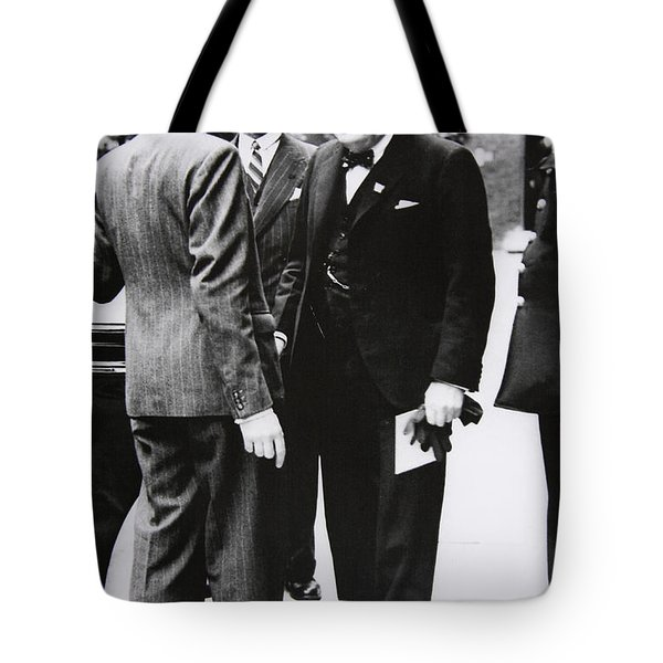 Churchill Leaves Downing Street To Take King George Vi A Letter From The Us President, 1941 Tote Bag