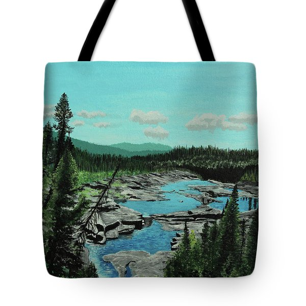 Churchill River Tote Bag