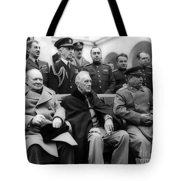 Churchill, Roosevelt And Stalin Tote Bag
