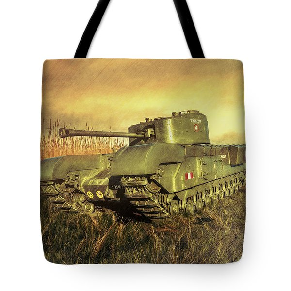 Tote Bag featuring the photograph Churchill Tank by Roy McPeak