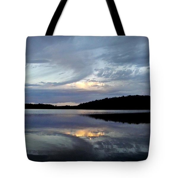 Tote Bag featuring the photograph Churning Clouds At Sunrise by Chris Berry
