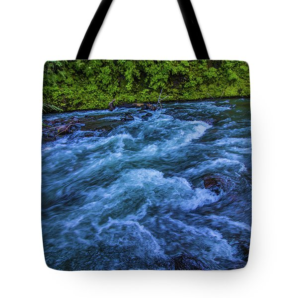Tote Bag featuring the photograph Churning Water by Jonny D