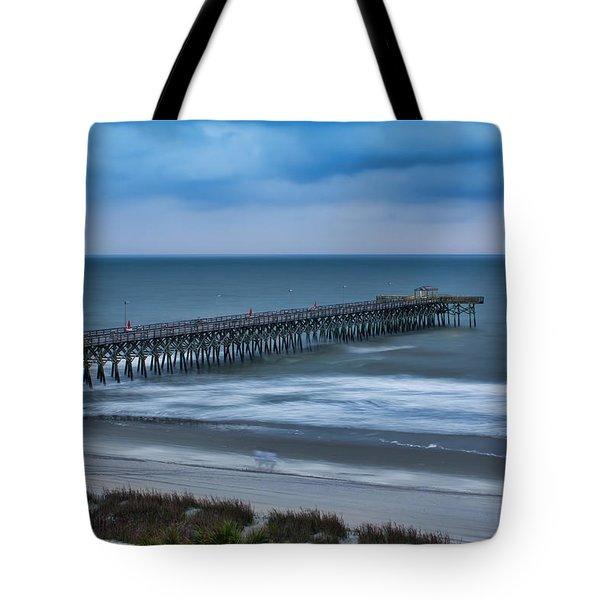 Churning Waves Tote Bag