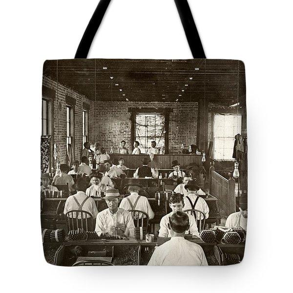 Cigar Factory, 1909 Tote Bag by Granger
