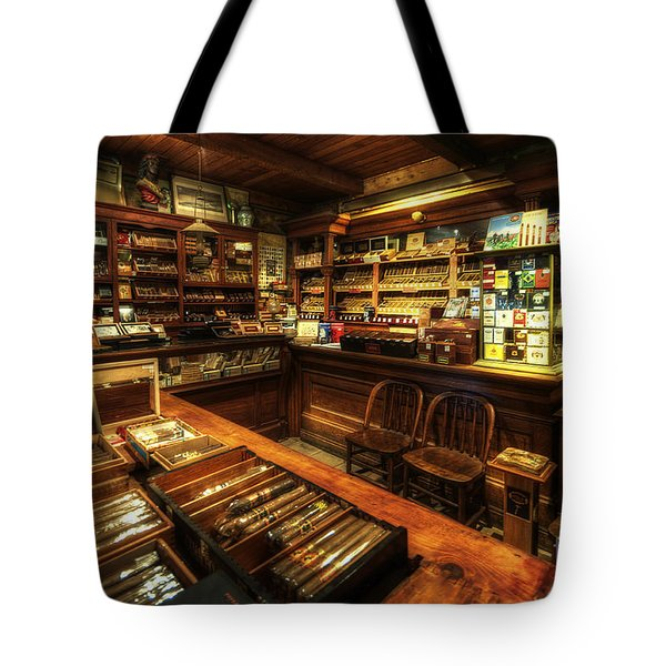 Cigar Shop Tote Bag