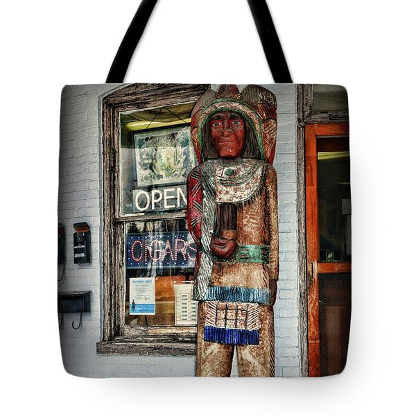 Tote Bag featuring the photograph Cigar Store Indian by Paul Ward