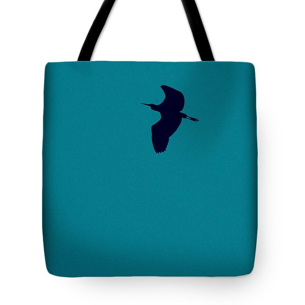 Tote Bag featuring the digital art Cigogne En Silhouette by Marc Philippe Joly