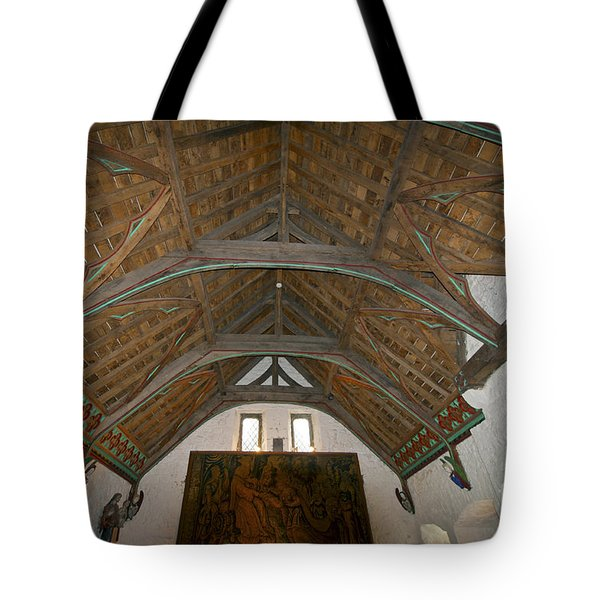 Ceiling In Hall Of Vicars Choral At Rock Of Cashel Tote Bag by Cindy Murphy - NightVisions