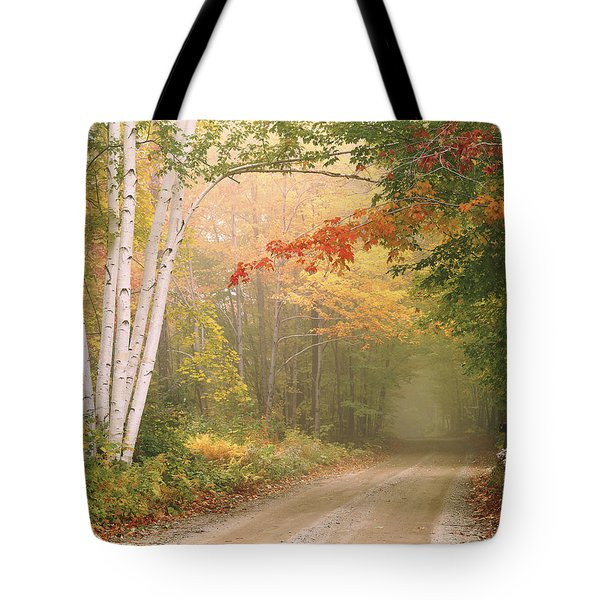 Cilley Hill Road In Underhill Vermont. Tote Bag