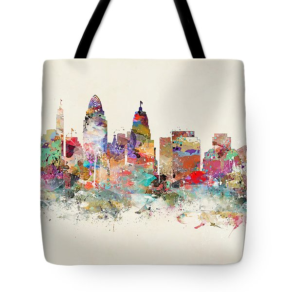 Cincinnati City Skyline Tote Bag