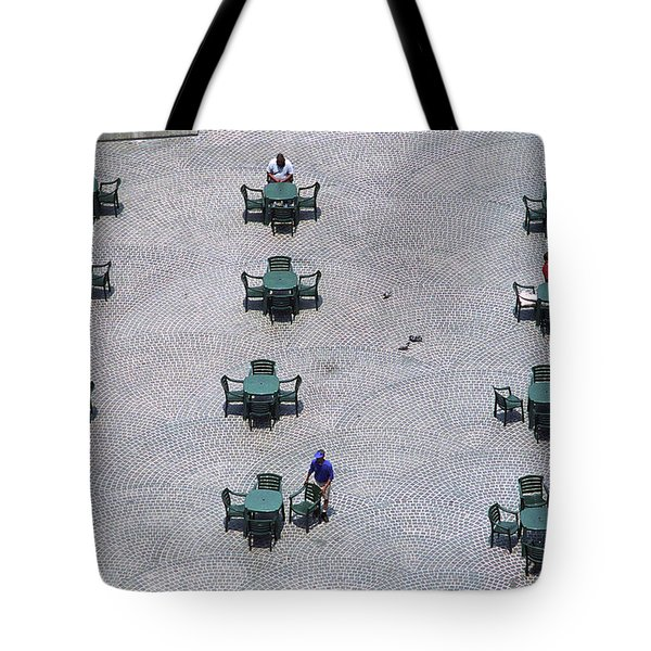 Cincinnati - Fountain Square Tote Bag by Frank Romeo