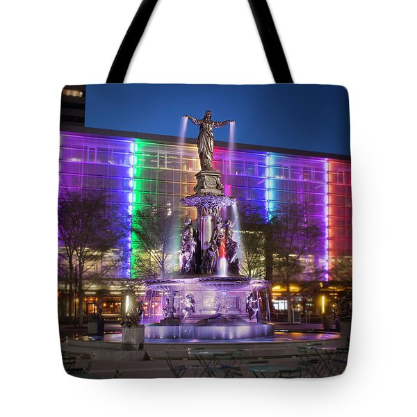 Cincinnati Fountain Square Tote Bag by Scott Meyer