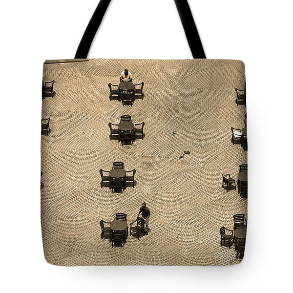 Cincinnati - Fountain Square Sepia Tote Bag by Frank Romeo
