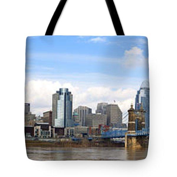 Cincinnati Panorama Tote Bag by Keith Allen