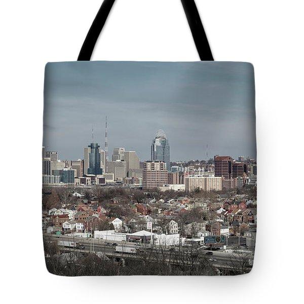 Cincinnati Panorama  Tote Bag by Scott Meyer
