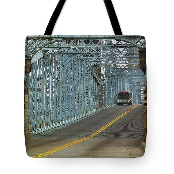 Cincinnati - Roebling Bridge 1 Tote Bag by Frank Romeo