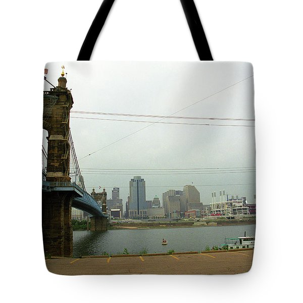 Cincinnati - Roebling Bridge 7 Tote Bag by Frank Romeo